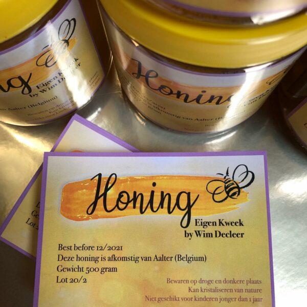Etiketten honing