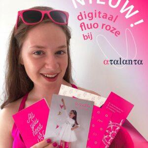 Nieuw! Digitaal fluo roze