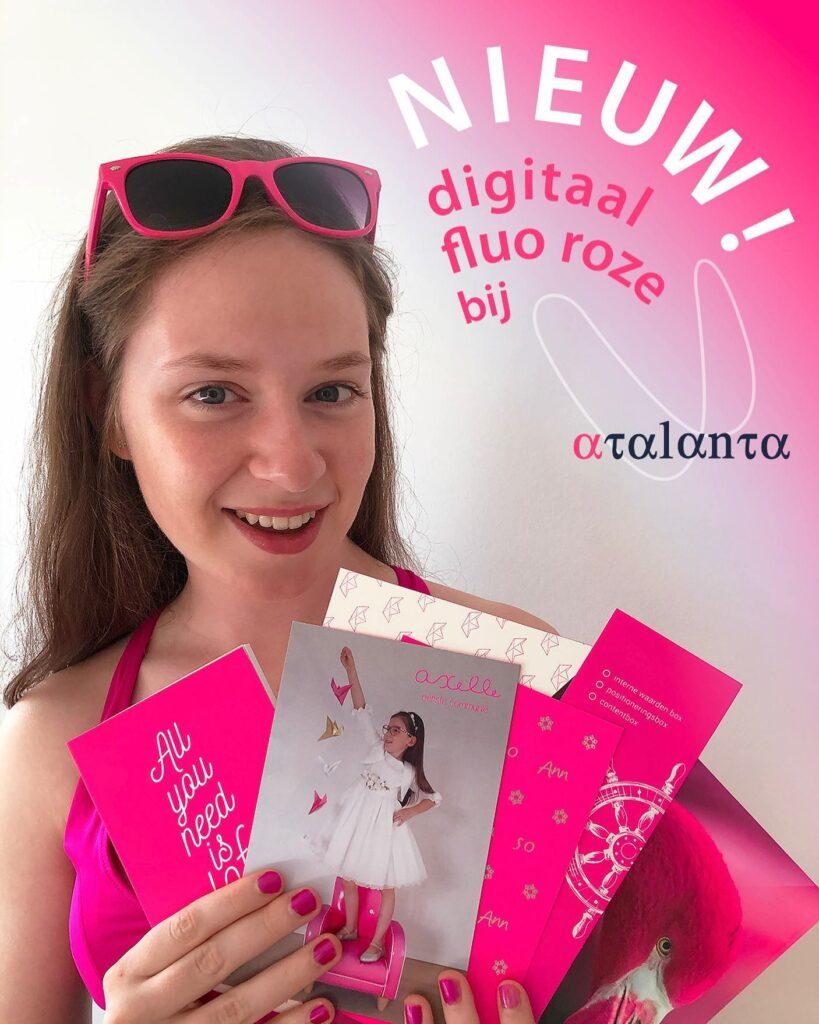 fluo roze kaartjes