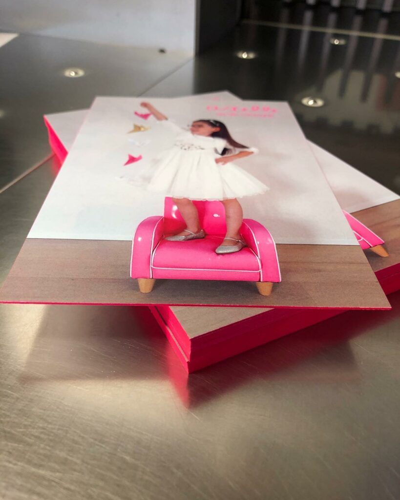 roze kleuring op snede
