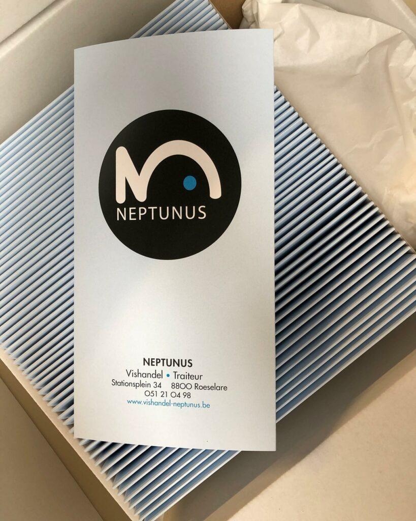 Menukaart Neptunus voorkant