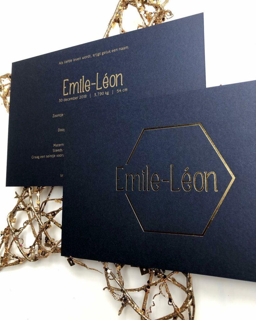 geboortekaart Emile-Léon