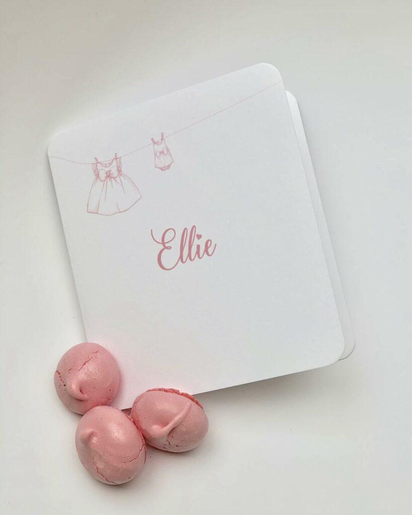 geboortekaart Ellie