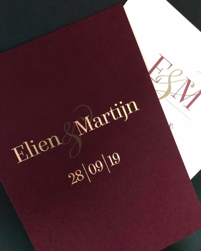 Save the date Elien & Martijn