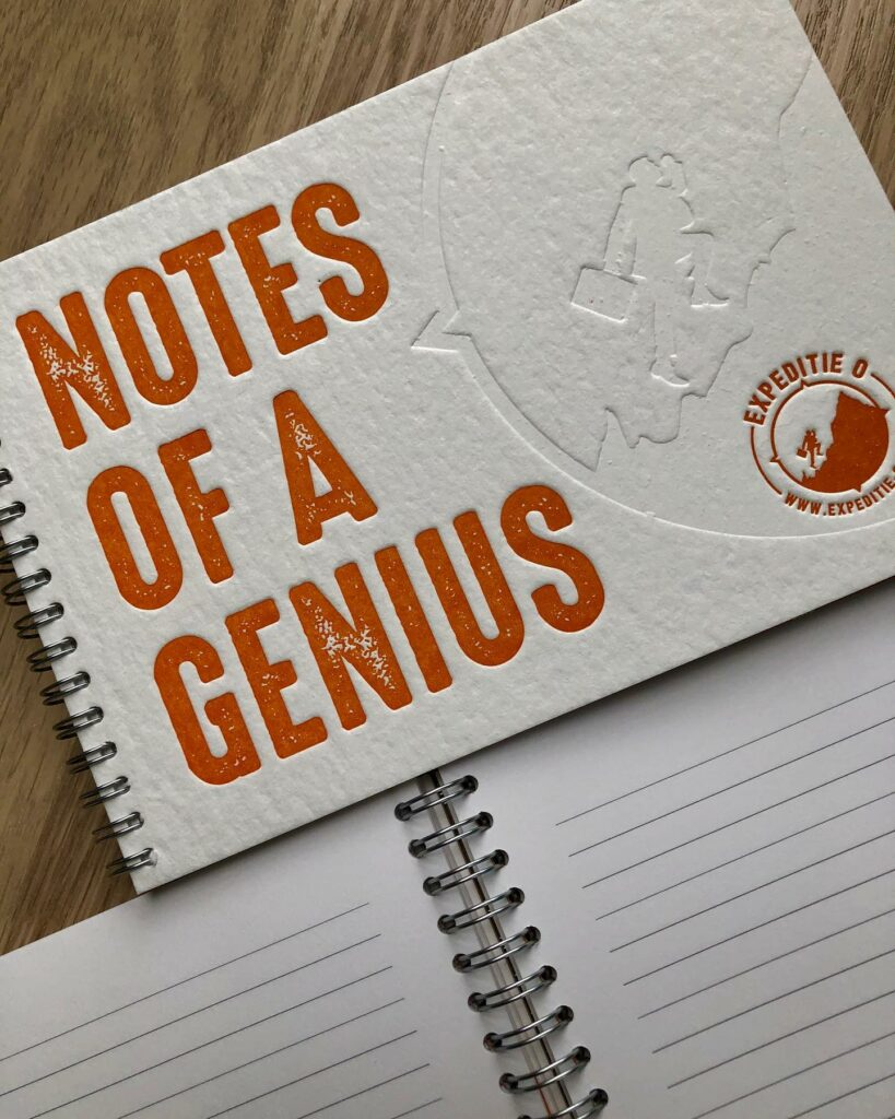 notes of a genius notebook