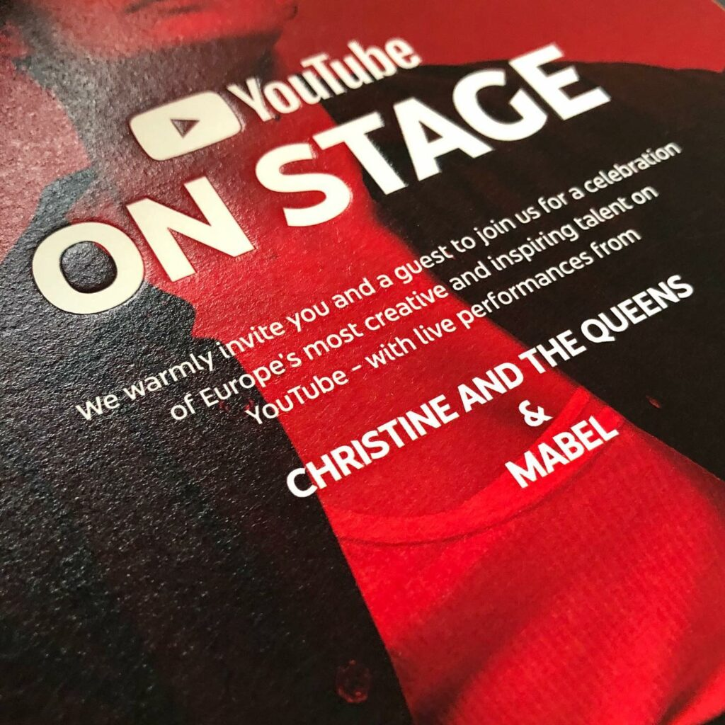 YouTube on Stage uitnodiging